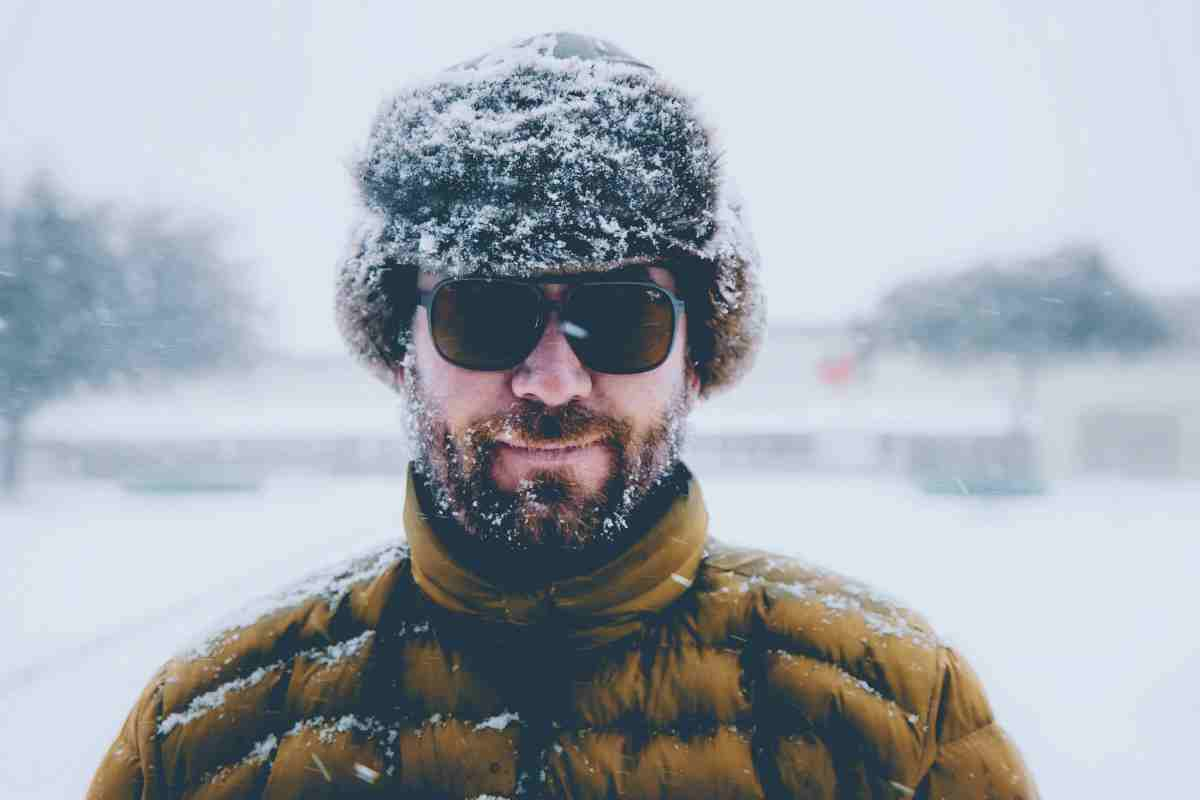 bearded man on a snowy outdoor | Short Beard Styles For All Face Shapes